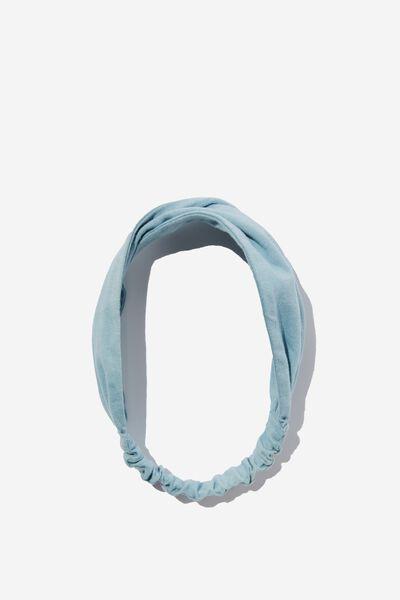 Organic Cotton Twist Headband, SERENITY BLUE