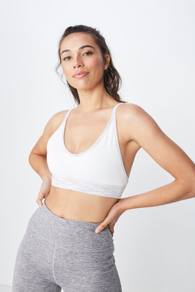Reversible Rib Crop, GREY HEATHER