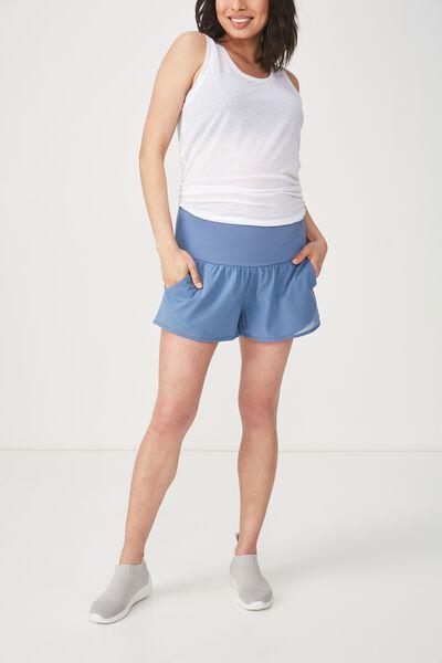 Maternity Run Mesh Short, CHALKY BLUE / TOPAZ BLUE
