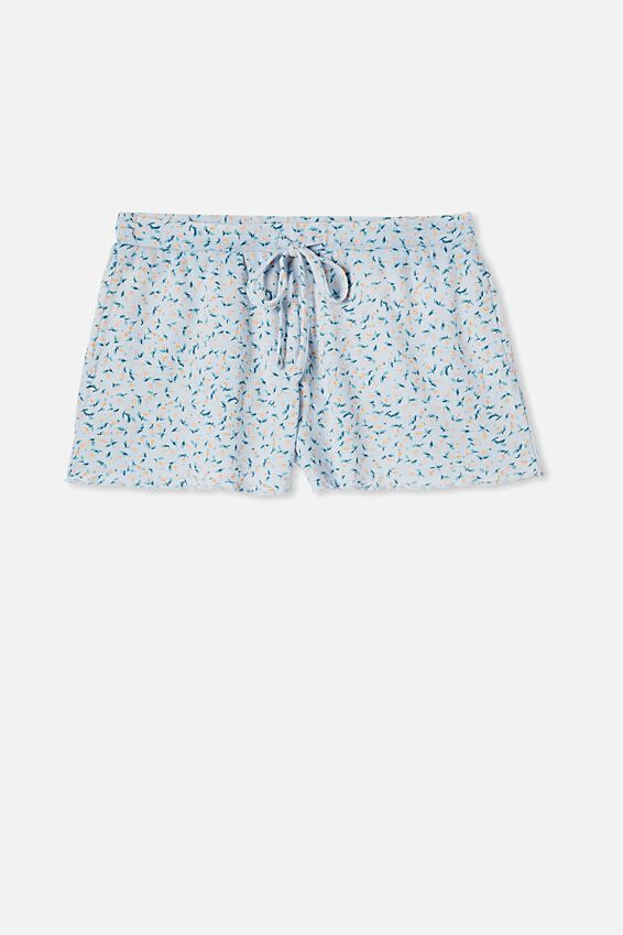 Waffle Bed Time Short, LITTLE BUD/BABY BLUE