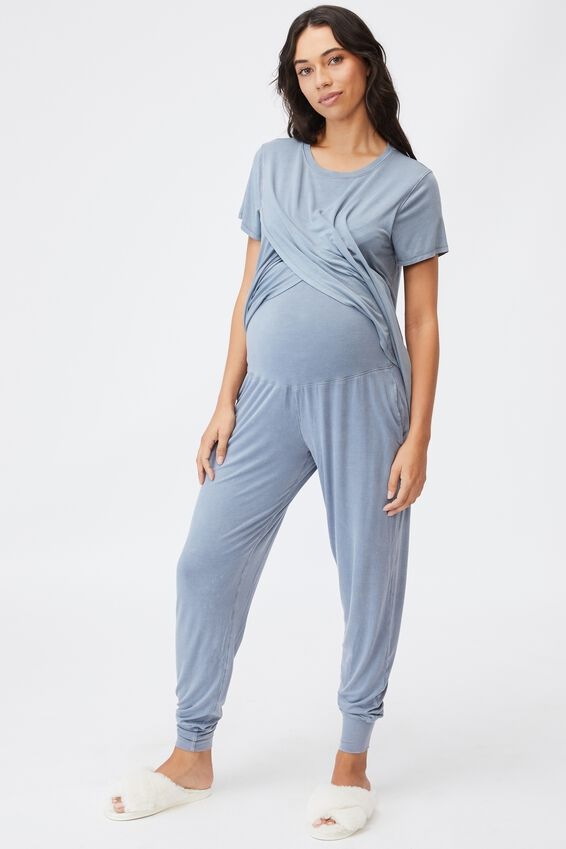 Sleep Recovery Maternity Pant, BLUE JAY WASH