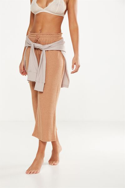 Super Soft Cropped Wide Leg Pant, MAPLE MARLE