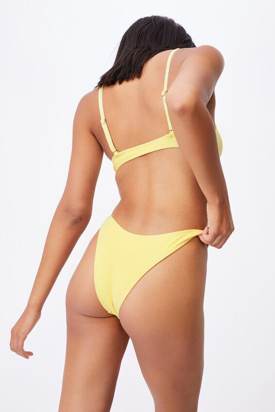 Refined High Side Brazilian Bikini Bottom Terry, LEMON TERRY