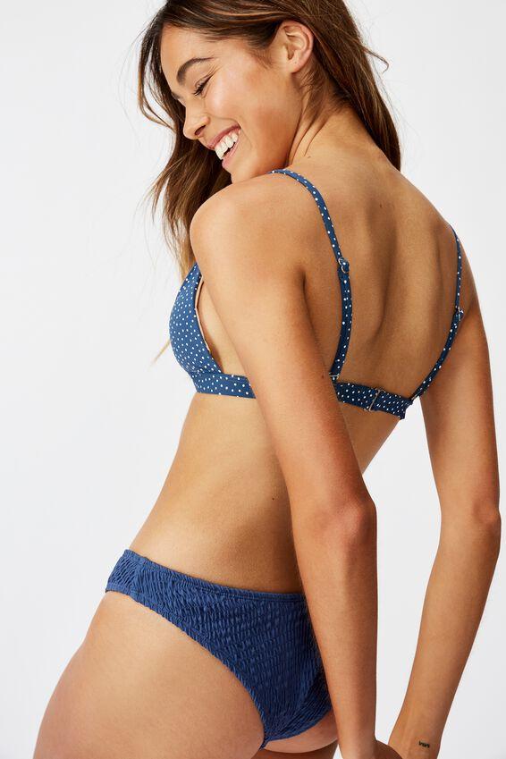 Fixed Triangle Bikini Top, MARINA BLUE IRREGULAR SPOT
