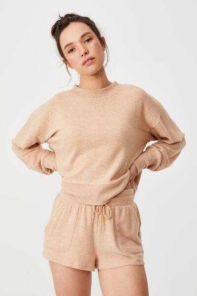 Super Soft Pocket Short, BUTTERSCOTCH MARLE