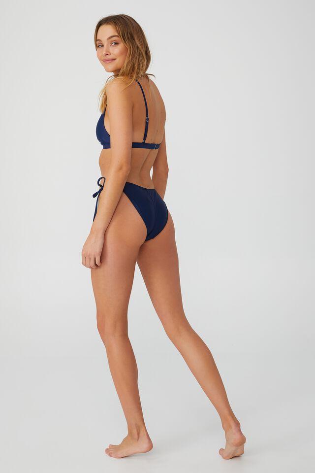 High Apex Fixed Triangle Bikini Top, NAVY