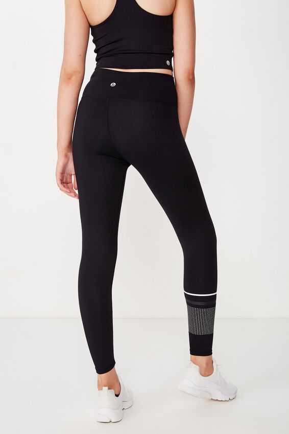 Active Core 7/8 Tight, BLACK/MONO STRIPE