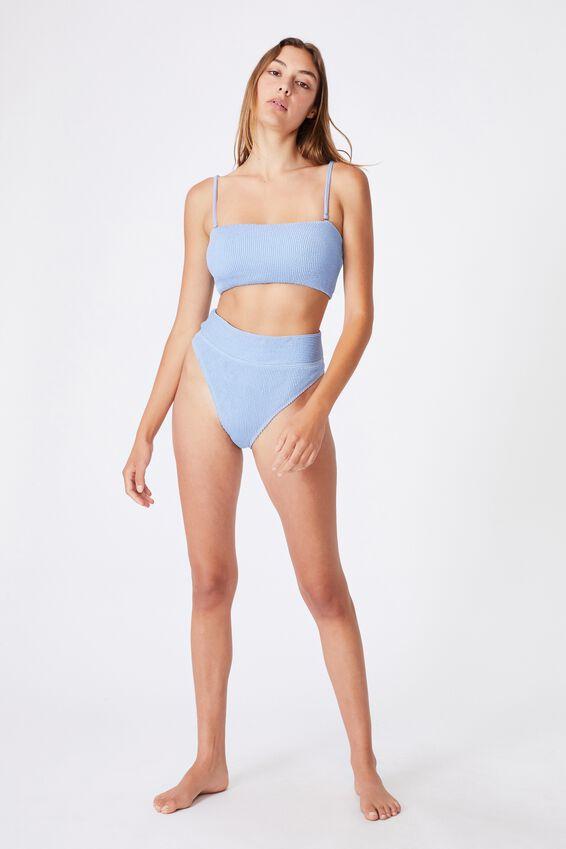 Midi Bandeau Bikini Top Crinkle, PALE BLUE CRINKLE