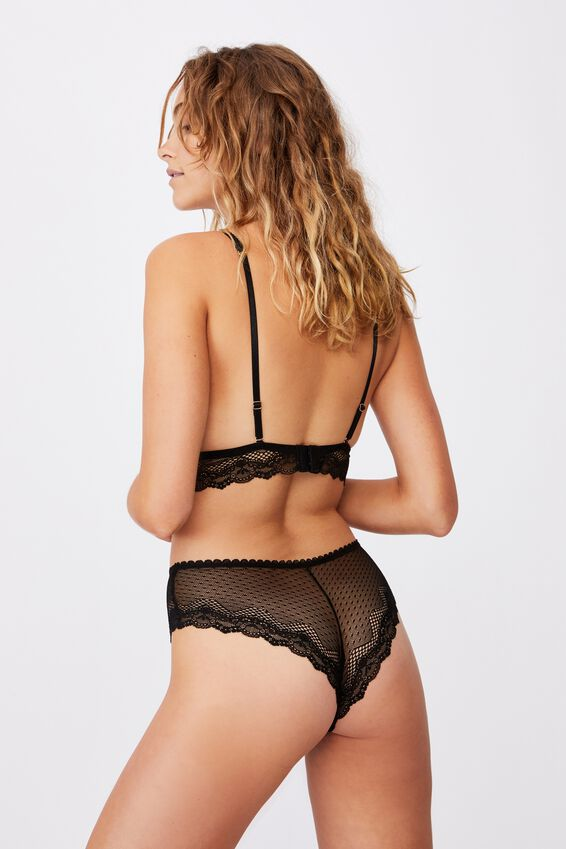 Stevie Lace Brasiliano Brief, BLACK