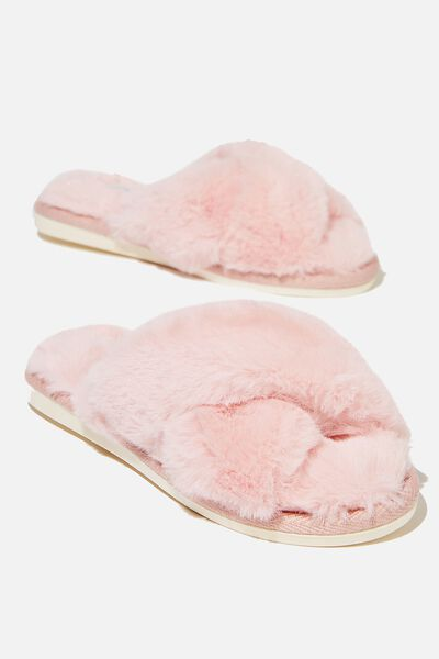 Duo Crossover Slipper, BLUSH