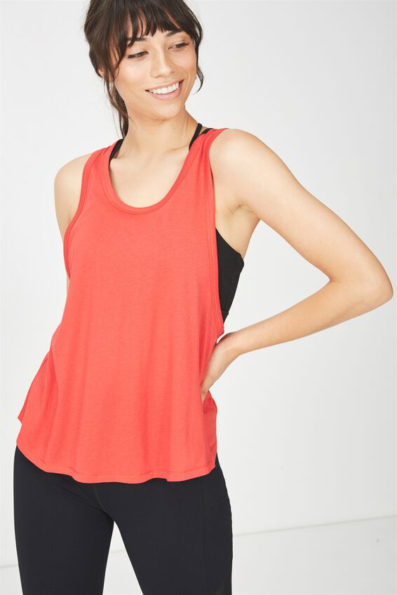 Swing Back Tank Top, PAPRIKA RED