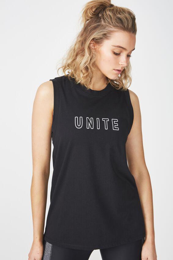 Lunge Tank Top, BLACK / UNITE