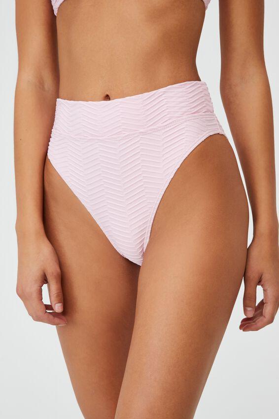 Highwaisted Cheeky Bikini Bottom Texture, FAIRYTALE TEXTURE