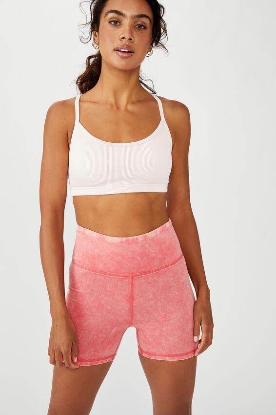 Workout Yoga Crop, PINK SHERBET RIB
