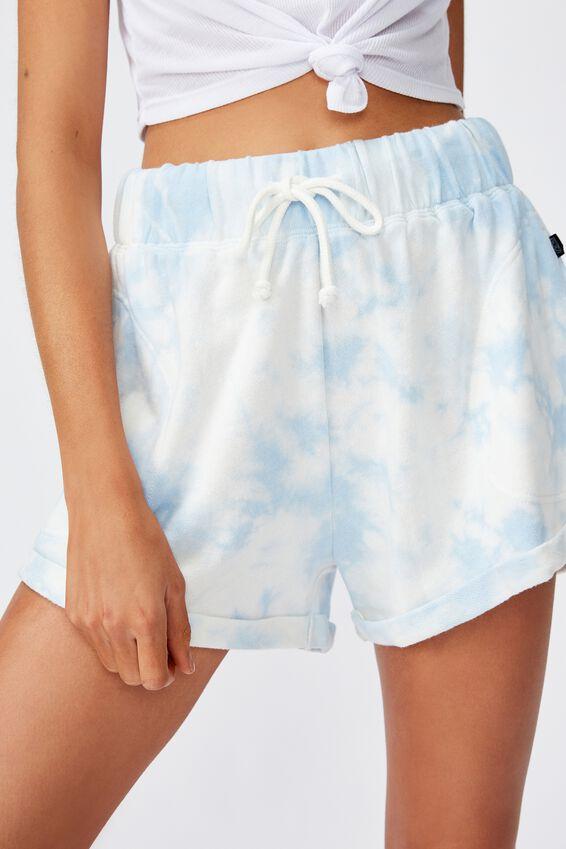 Summer Fleece Short, BLUE TIE DYE