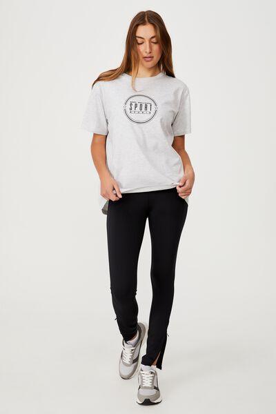 Active Organic Tshirt, SPORT STUDIO GREY MARLE