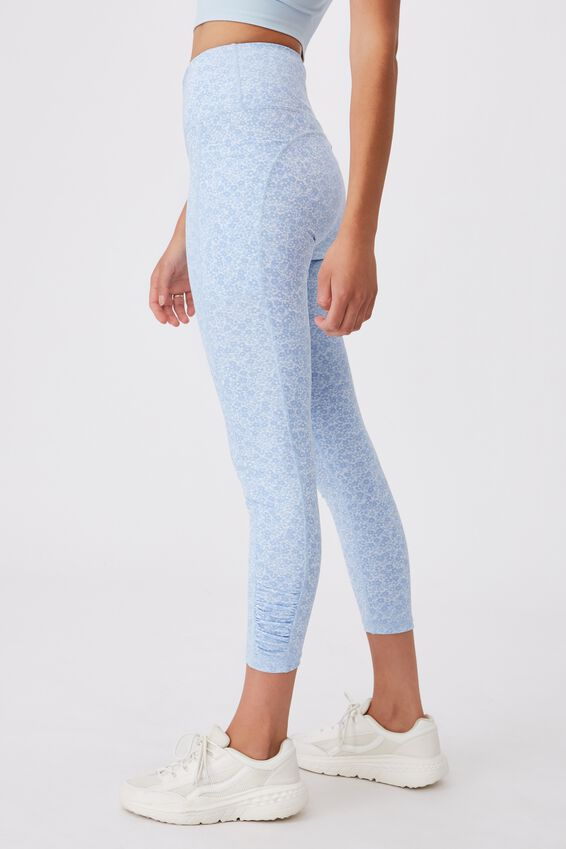 Love You A Latte 7/8 Active Tight, DAISY FIELDS TONAL BLUE