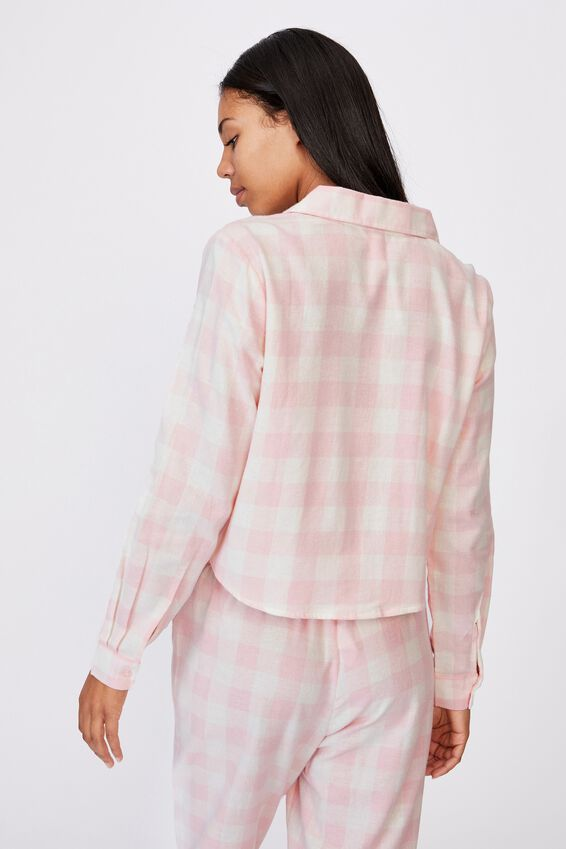 Flannel Sleep Shirt, GINGHAM CHECK
