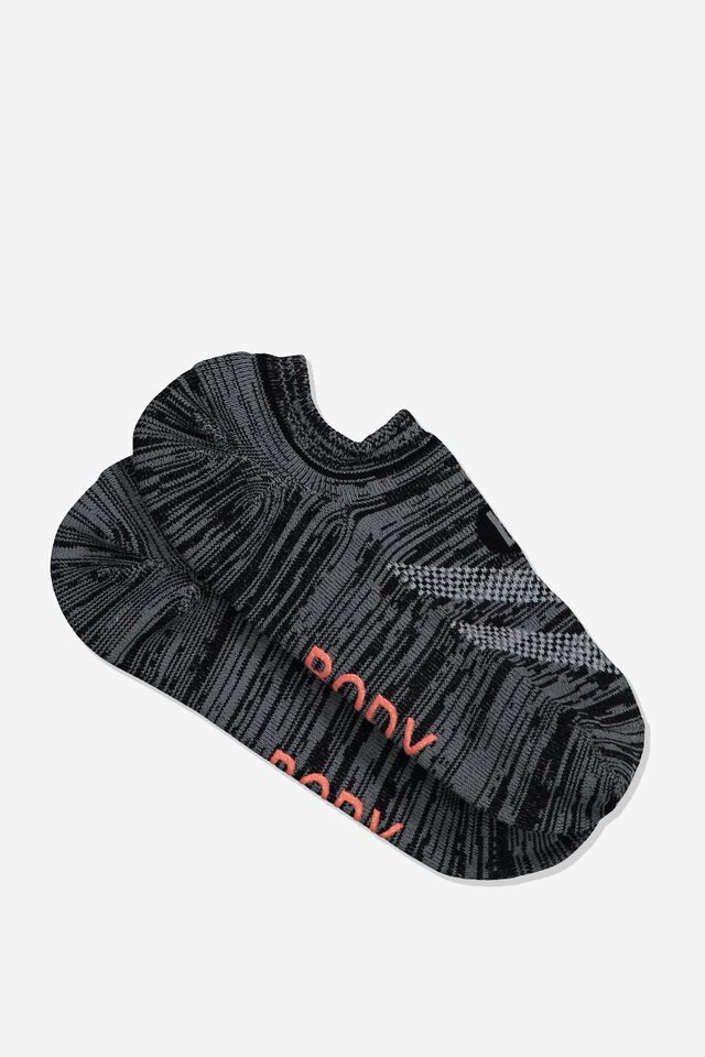 Sporty Invisible Sock, GREY