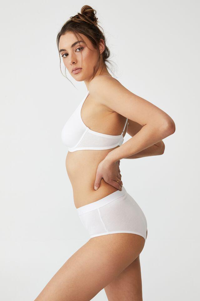 Organic Cotton Mumdie Bikini Brief, WHITE