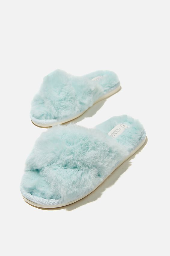 Duo Crossover Slipper, MISTY AQUA
