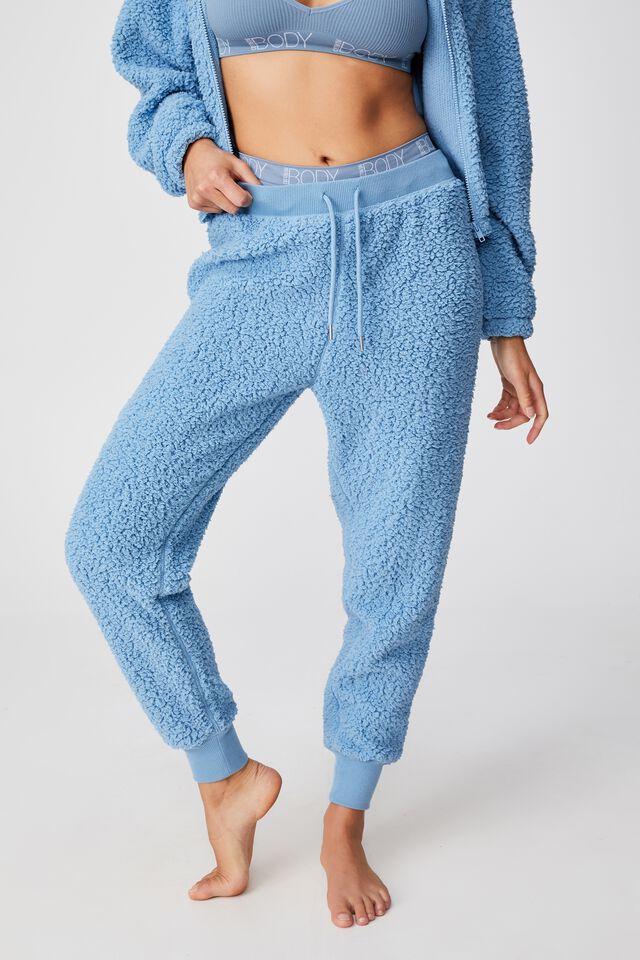 Sherpa Lounge Pant, CYAN BLUE