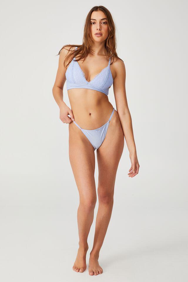 Fifi Lace Tanga Bikini Brief, SERENITY