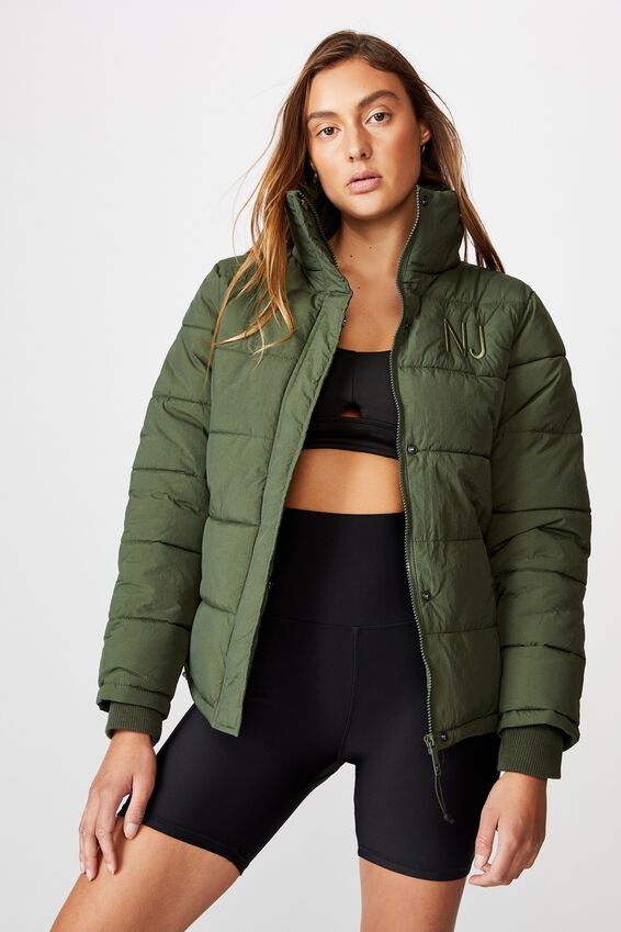 Personalised The Mother Puffer, KHAKI
