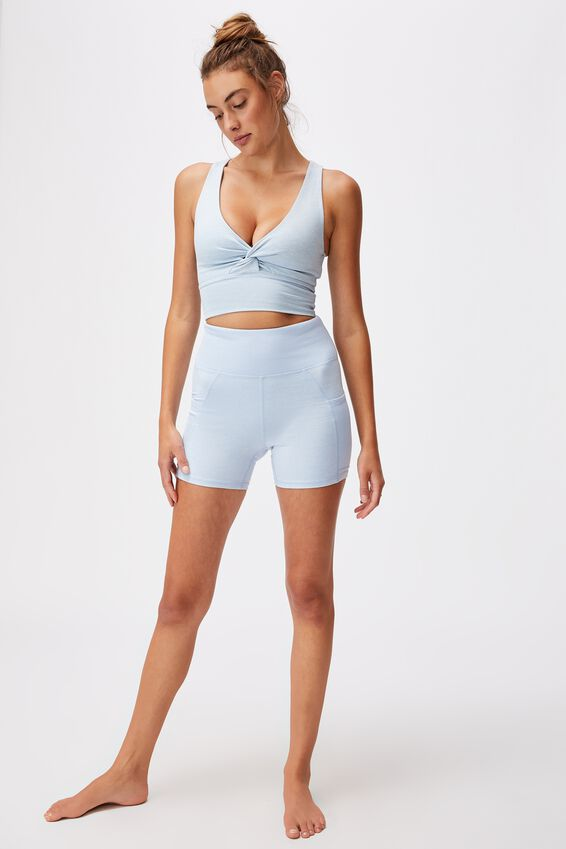 So Peachy Twist Front Vestlette, BABY BLUE MARLE