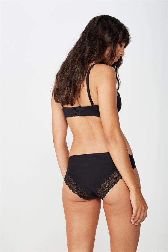 Party Pants Seamless Bikini Brief, BLACK
