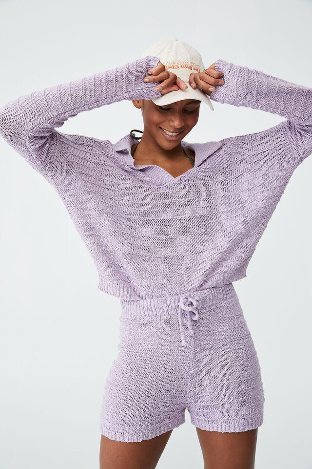 Summer Lounge Beach Knit, SOFT GRAPE
