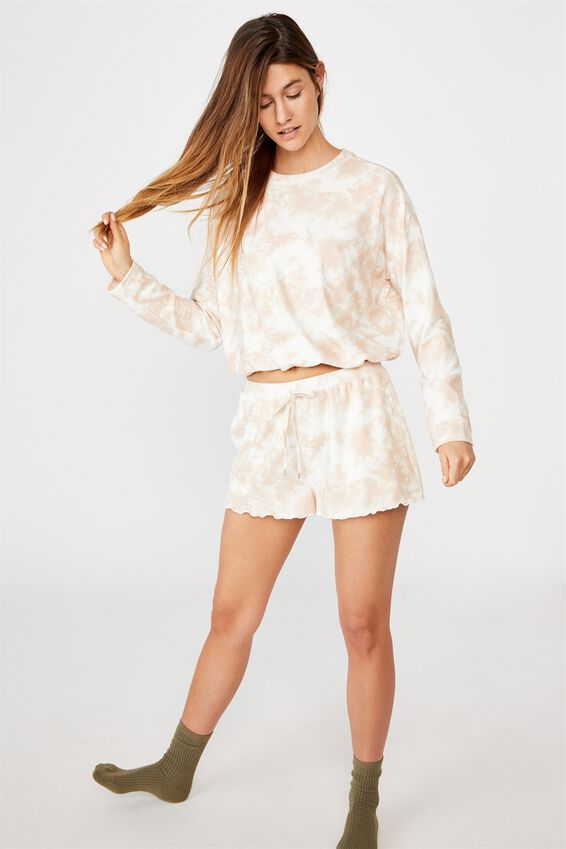 Super Soft Relaxed Short, CREME BRULEE OMBRE MARLE