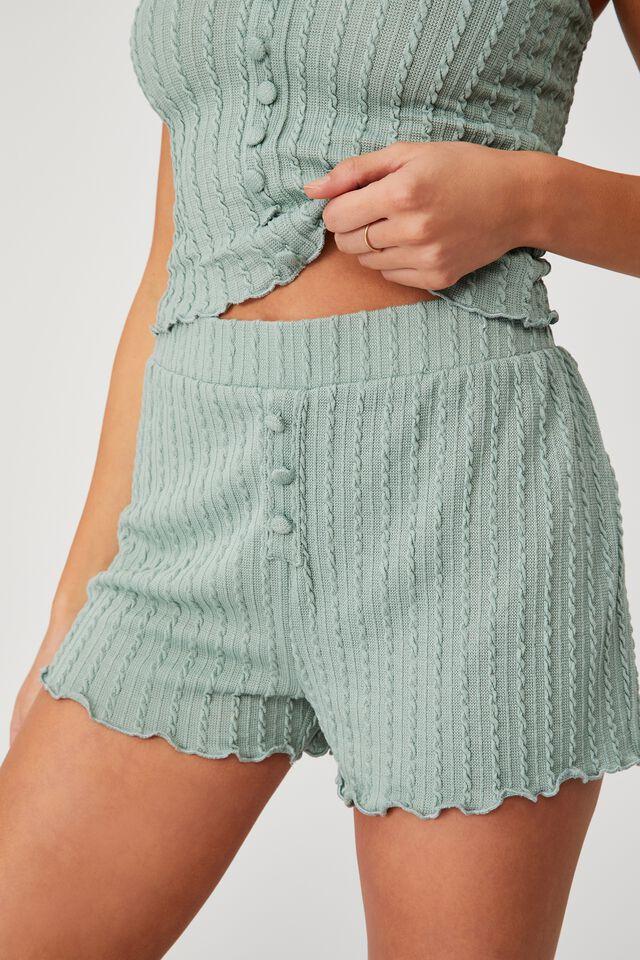 Knit Bed Short, SMOKE GREEN