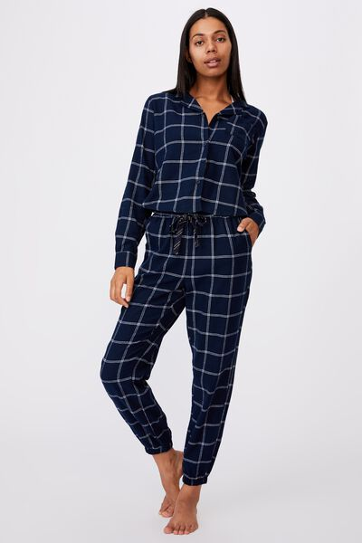 Flannel Sleep Pant, OVERSIZED CHECK
