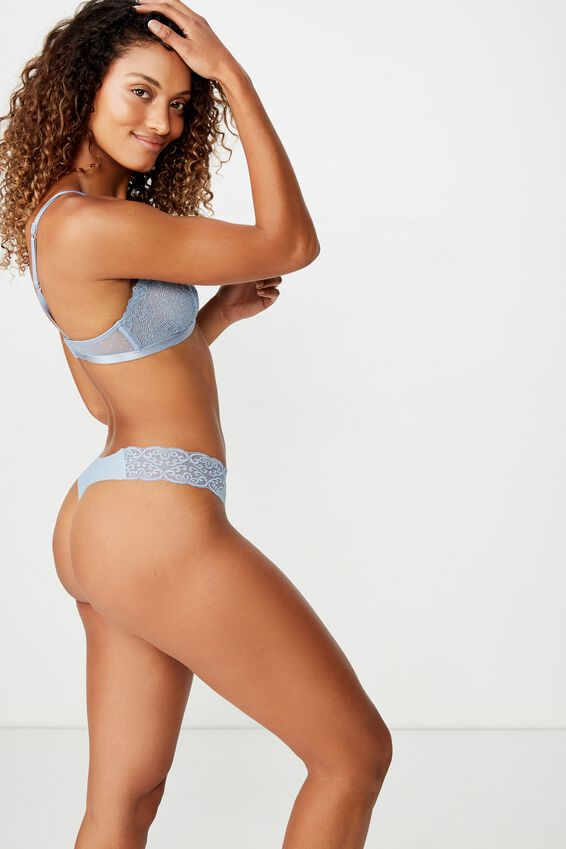 Party Pants Seamless G-String Brief, FADED DENIM