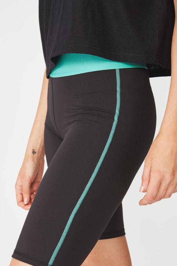 Active Mid Gym Short, BLACK/KELLY GREEN
