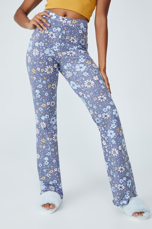 Jersey Bed Pant, CLASSIC 70 S FLORAL GUNMETAL