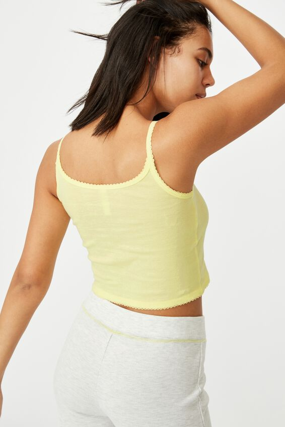 Ribbed Sleep Tank, LEMONADE