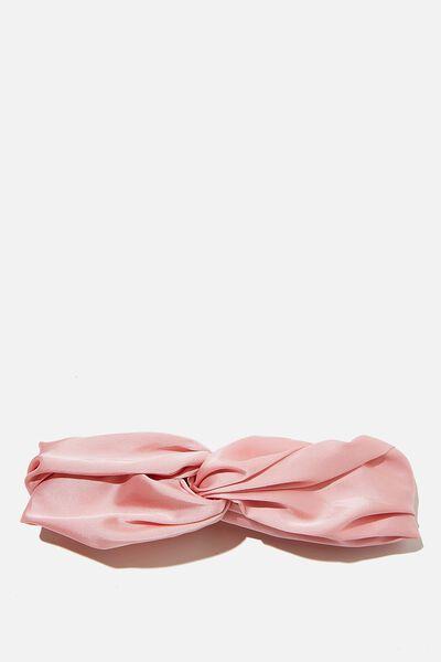 Satin Knot Headband, CHERRY PINK