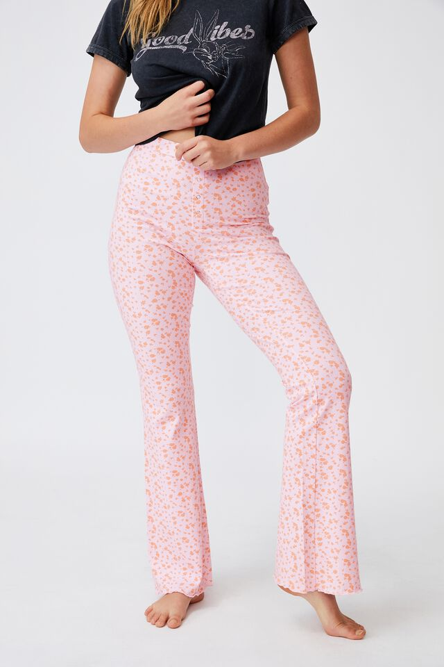 Jersey Bed Pant, NOMINAL DITSY PRETTY PINK