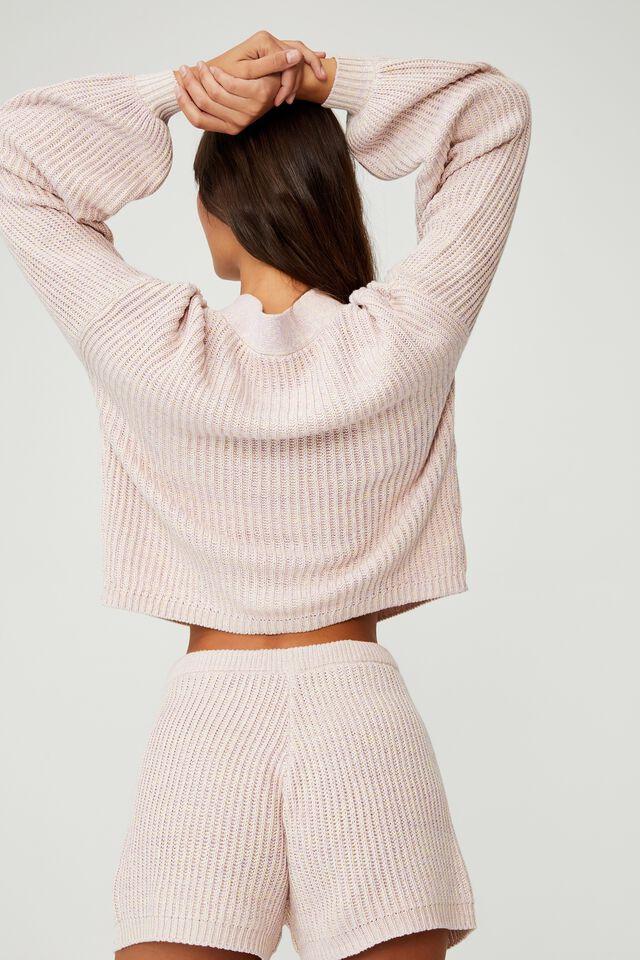 Organic Cotton Knit Lounge Short, RAINBOW MARLE