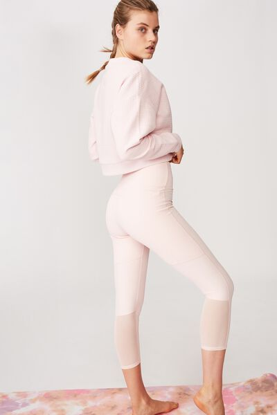 Workout Rib Mesh 7/8 Tight, PINK SHERBET