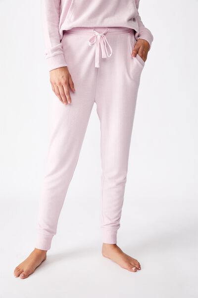 Supersoft Slim Fit Pant, LILAC SNOW MARLE