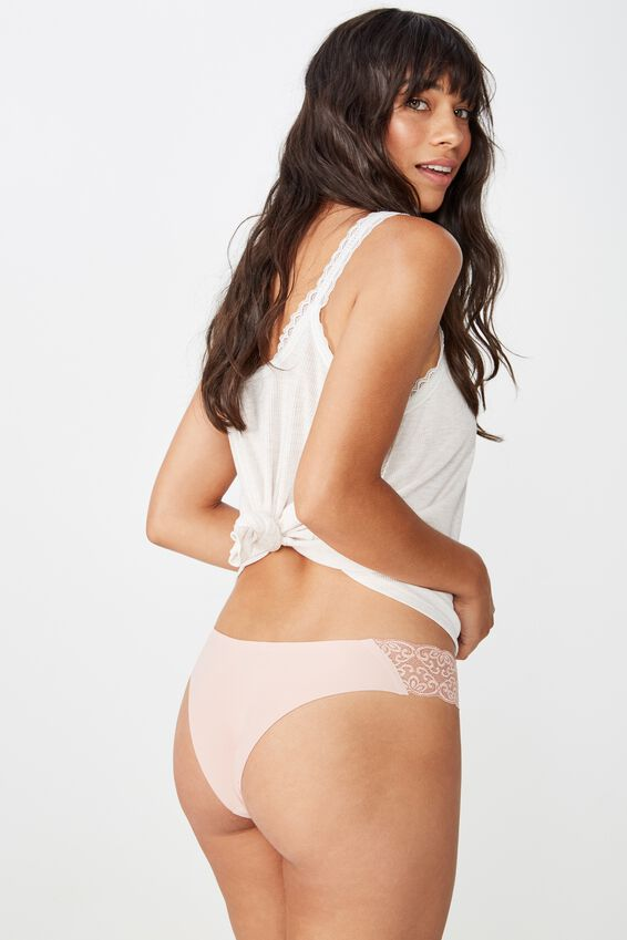 Party Pants Seamless Brasiliano Brief, PRIMROSE