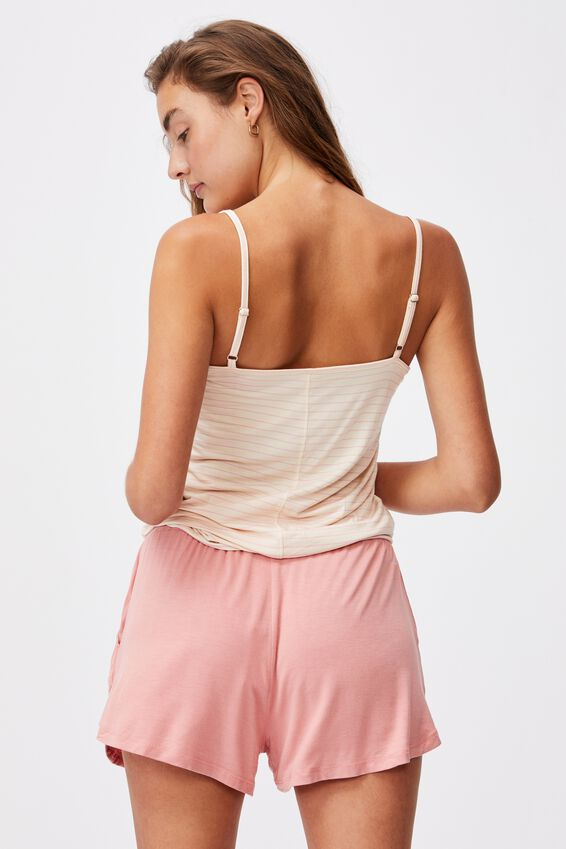 Sleep Recovery Pocket Short, PINK ALMOND