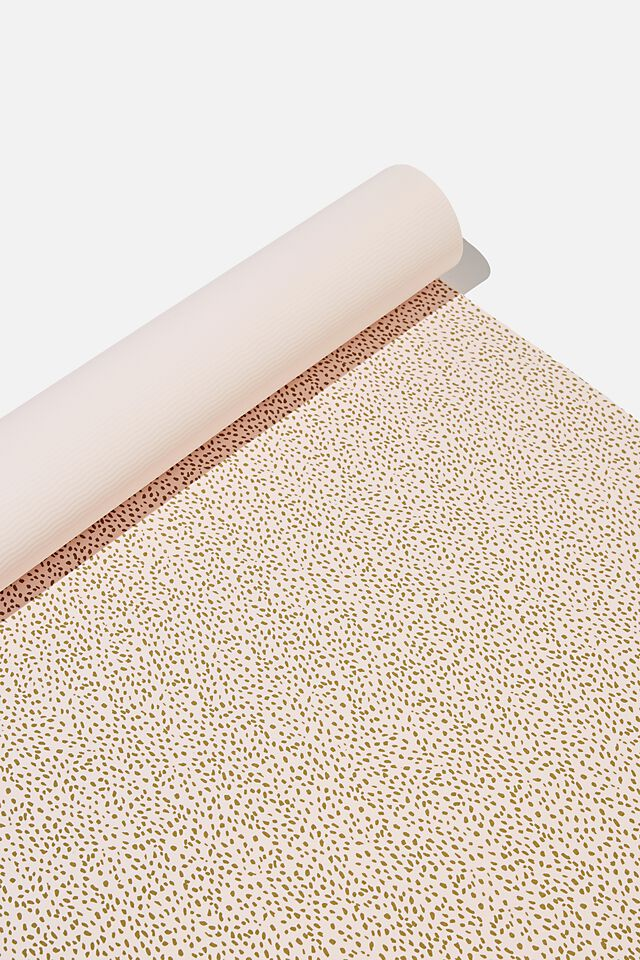 Printed Yoga Mat, PRETTY PINK SPECKLE