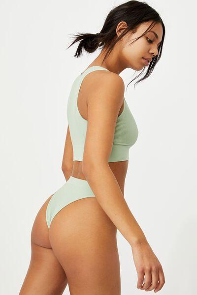 Seamless High Cut Brasiliano Brief, MINT CHIP