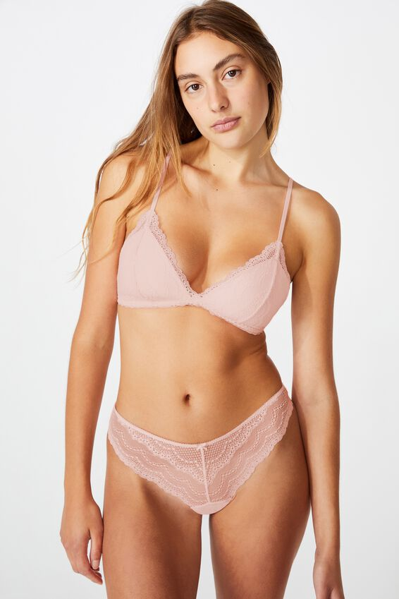 Alice Fixed Cup Wirefree Bra, CRYSTAL PINK