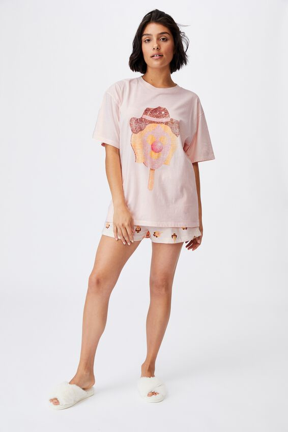 90S Bed T Shirt, LCN STREETS BUBBLE O JILL