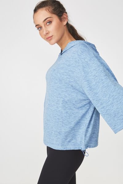 Sporty Pullover, FROSTED BLUE MARLE